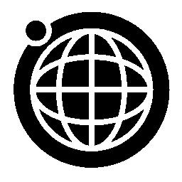月軌道の無料アイコンと地球のグリッド