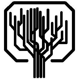 直線のツリー形状コンピューター プリント回路の無料アイコンが好きです。