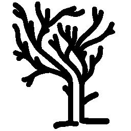 木のない冬に不規則な形の枝の葉無料アイコン