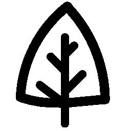 ツリー大筋の三角形の無料アイコン
