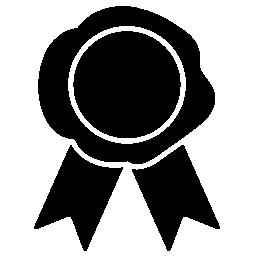 ゲームの勝者リボン無料アイコン