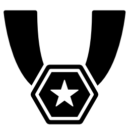 六角形のスター メダル ネックレス無料アイコン