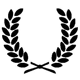 2 つの枝と葉対称シンボル無料アイコン