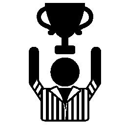 ゲームの勝者とトロフィーの無料アイコン