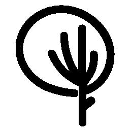 ツリーの円形概要無料アイコン