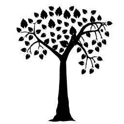 ハート形でロマンチックなツリー形葉無料アイコン