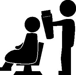 2 人の無料のアイコンの髪サロン状況