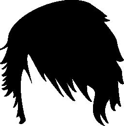 男性のショートヘア図形無料アイコン