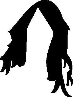 かつらの黒い髪の無料のアイコン