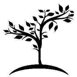 地球無料アイコンに成長している小さな果樹