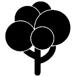黒い木形状ボール葉無料アイコン