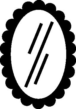 無料アイコンの楕円形のミラー