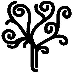 らせん状の無料のアイコンのツリー
