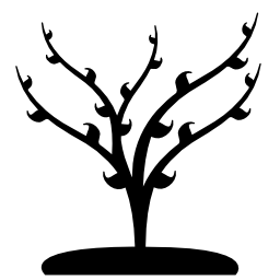 春の無料アイコンの葉の成長を持つツリー