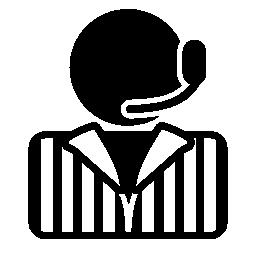 ヘッドセットの無料のアイコンを持つ人
