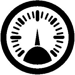車の速度を制御するスピード メーター ツール無料のアイコン