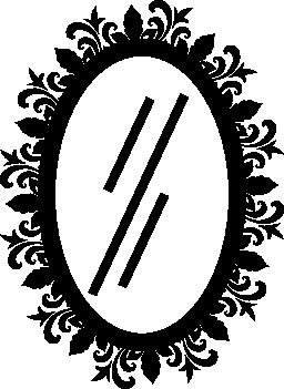 髪サロン無料アイコンの楕円形のミラー