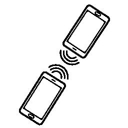 携帯電話のカップルの無料のアイコンを接続
