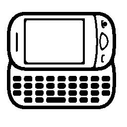 携帯電話キーボード無料アイコンの水平方向の位置でバリアントを丸め