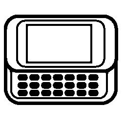 キーボード無料アイコンの水平方向の携帯電話