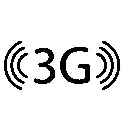 3 G 信号電話インタ フェース シンボル無料アイコン