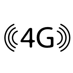 4 G 携帯電話接続シンボル無料アイコン