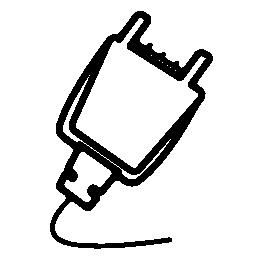 電気接続黒い図形無料アイコン用プラグ