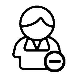 連絡先シンボル無料アイコン上のマイナス記号