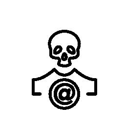 サークル無料アイコンをサインイン アロバと頭蓋骨の概要