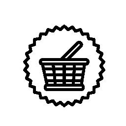 バスケット商業シンボル無料アイコン