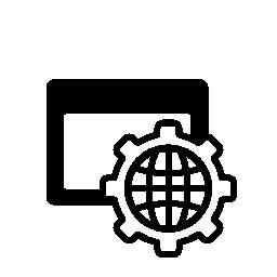 世界のブラウザー設定シンボル無料アイコン