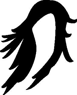 長い髪のかつらの無料アイコン