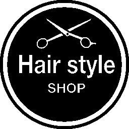 髪スタイル サロン円形バッジ無料アイコン