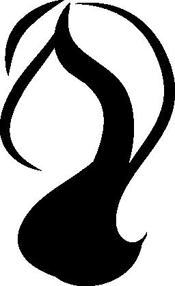 女性の毛図形無料アイコン