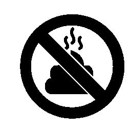 動物の禁止 poops 無料アイコン