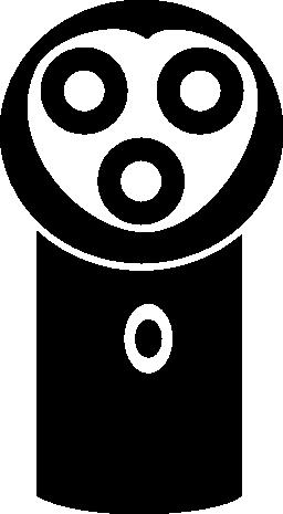 シェーバー電気ツール正面無料アイコン