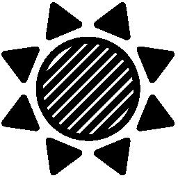 太陽ストライプ バリアント無料アイコン