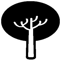 楕円の水平葉無料アイコンのツリー