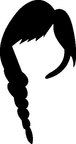 長い女性の髪の無料のアイコン