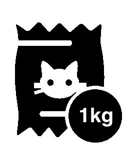 1 kg の猫食品袋無料アイコン