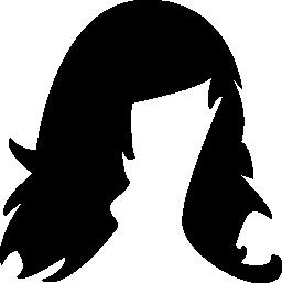 女性のかつら無料アイコン