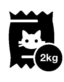2 kg 猫食品袋無料アイコン