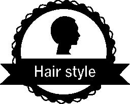 髪のサロンは、無料のアイコンをバッジ