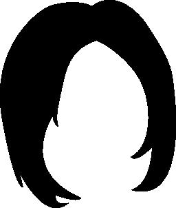 短い女性暗い髪図形無料アイコン