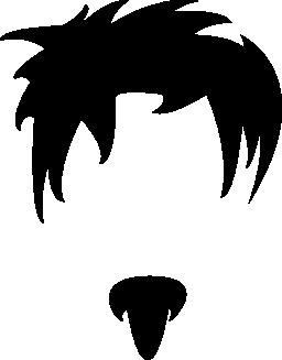 若い男性不規則なショートヘア ヘッドと小さなひげ無料アイコン