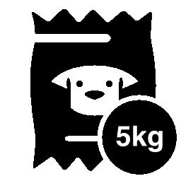 5 kg の犬食品袋無料アイコン