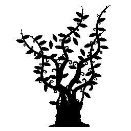 木で、長く細い枝の総トランク葉すべてに沿ってその延長無料アイコンの