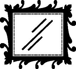 無料アイコンの長方形の鏡