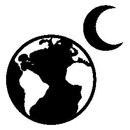 地球と月の無料アイコン