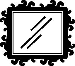 ミラー無料の四角形のアイコン